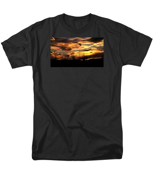 Men's T-Shirt  (Regular Fit) featuring the photograph Glorious Maine Sunset by Mike Breau