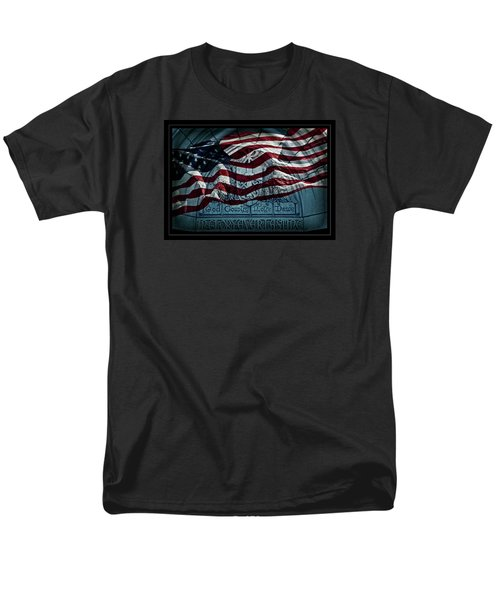 God Country Notre Dame American Flag Men's T-Shirt  (Regular Fit)