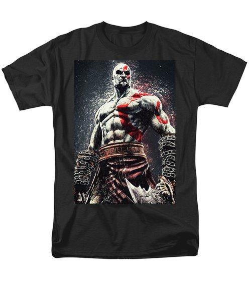 Men's T-Shirt  (Regular Fit) featuring the digital art God Of War - Kratos by Taylan Apukovska
