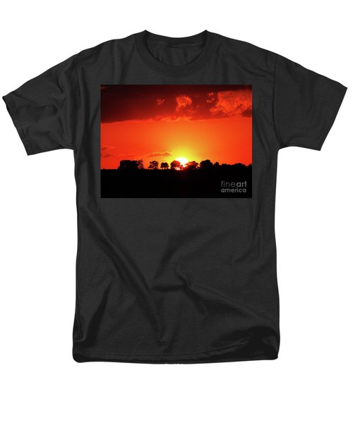 Men's T-Shirt  (Regular Fit) featuring the photograph God's Gracful Sunset by J L Zarek