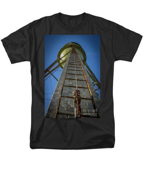 Men's T-Shirt  (Regular Fit) featuring the photograph Going Up Mary Leila Cotton Mill Water Tower Art by Reid Callaway