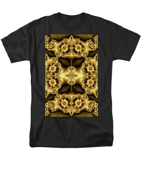 Gold N Brown Phone Case Men's T-Shirt  (Regular Fit) by Lea Wiggins