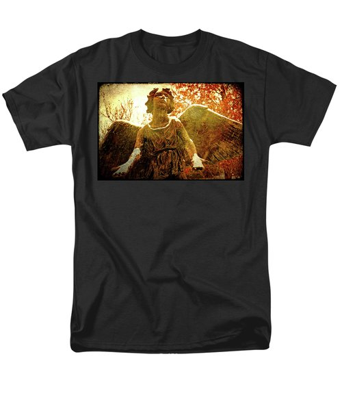 Men's T-Shirt  (Regular Fit) featuring the photograph Golden Angel Of Hope by Jean Haynes