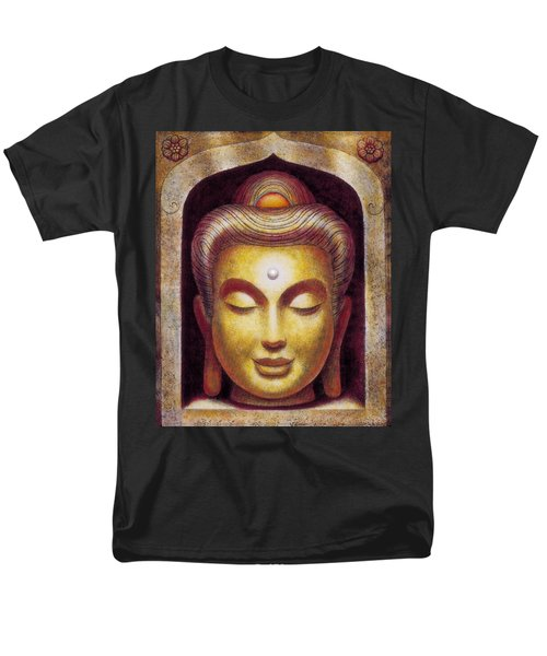 Men's T-Shirt  (Regular Fit) featuring the painting Golden Buddha by Sue Halstenberg