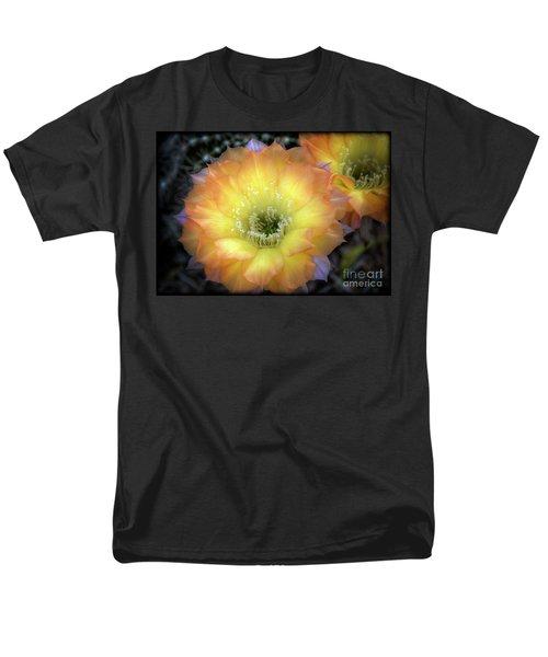 Golden Cactus Bloom Men's T-Shirt  (Regular Fit) by Saija  Lehtonen