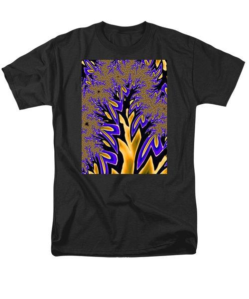 Golden Fractal Tree Men's T-Shirt  (Regular Fit) by Ronda Broatch