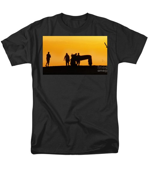Men's T-Shirt  (Regular Fit) featuring the photograph The Golden Hour by Rhonda Strickland