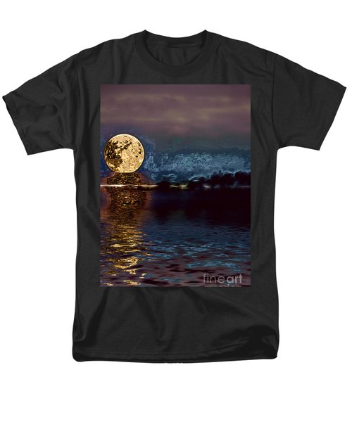 Golden Moon Men's T-Shirt  (Regular Fit) by Elaine Hunter