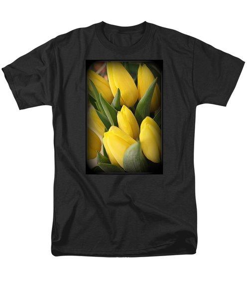 Golden Tulips Men's T-Shirt  (Regular Fit) by Dora Sofia Caputo Photographic Art and Design