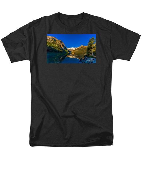 Good Morning Lake Louise Men's T-Shirt  (Regular Fit) by John Roberts