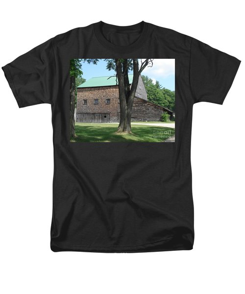Grammie's Barn Through The Trees Men's T-Shirt  (Regular Fit) by Kerri Mortenson