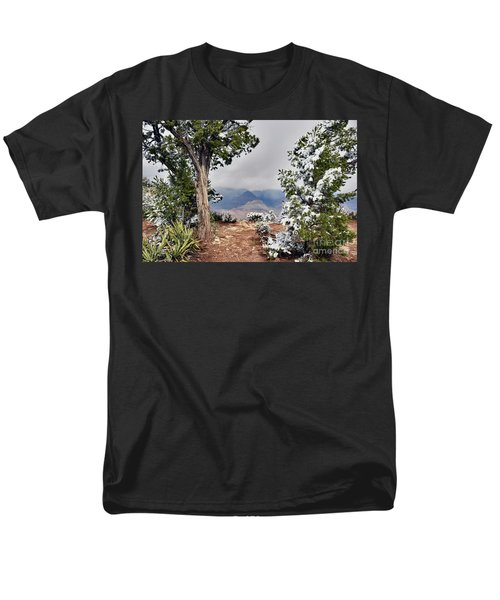 Grand Canyon Through The Trees Men's T-Shirt  (Regular Fit) by Debby Pueschel