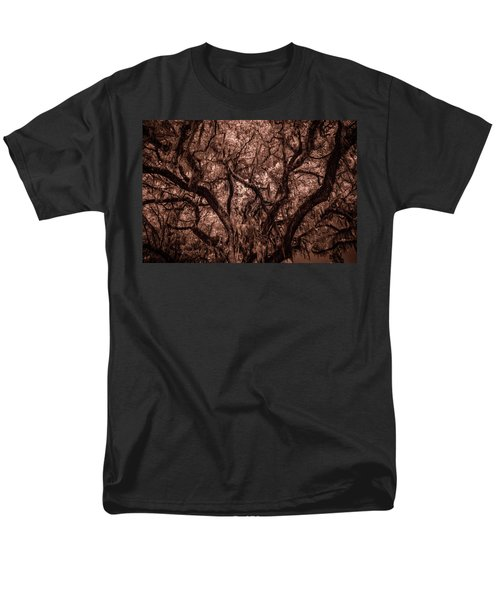 Men's T-Shirt  (Regular Fit) featuring the photograph Grand Daddy Oak Tree In Infrared by Louis Ferreira