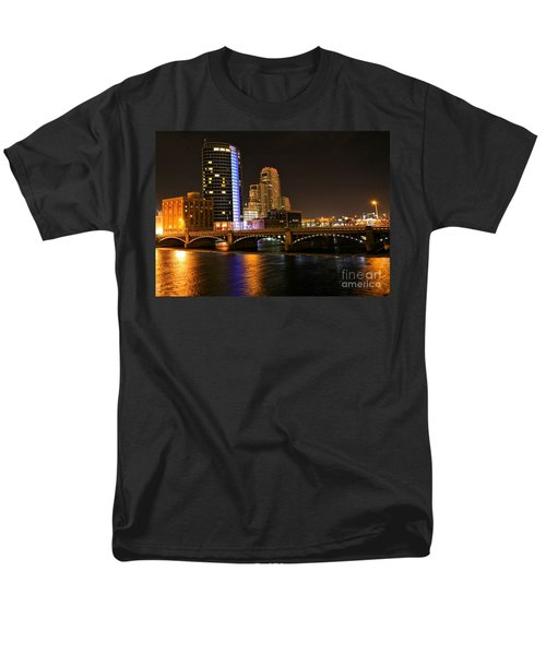 Grand Rapids Mi Under The Lights Men's T-Shirt  (Regular Fit) by Robert Pearson