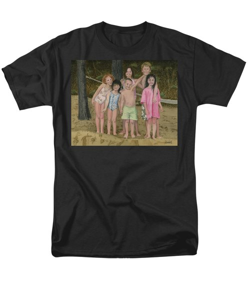 Grandkids On The Beach Men's T-Shirt  (Regular Fit) by Ferrel Cordle