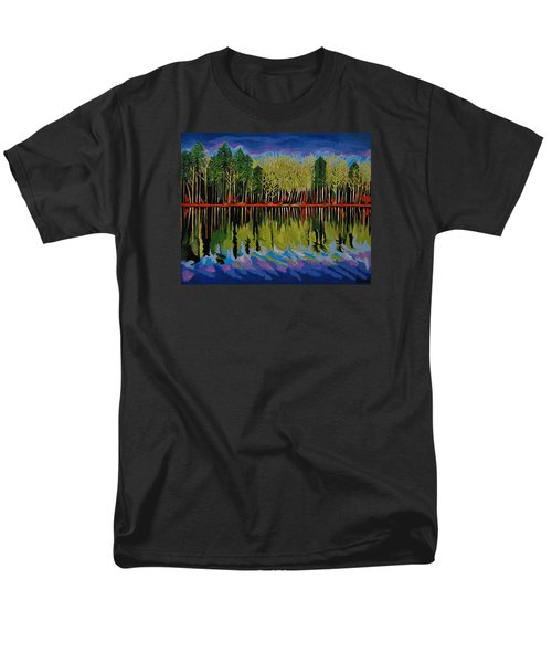 Men's T-Shirt  (Regular Fit) featuring the painting Grant's Lake Reflections by Kathleen Sartoris