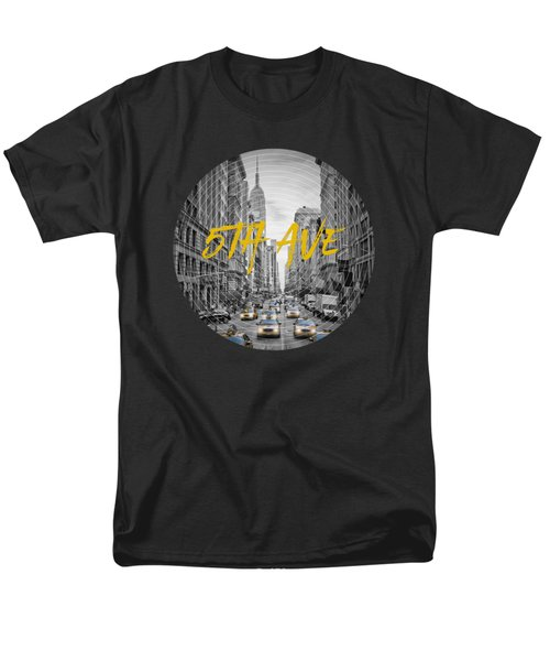 Graphic Art Nyc 5th Avenue Men's T-Shirt  (Regular Fit) by Melanie Viola