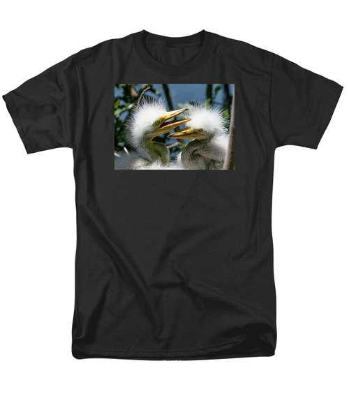Men's T-Shirt  (Regular Fit) featuring the photograph Great Egret Chicks by Brian Tarr