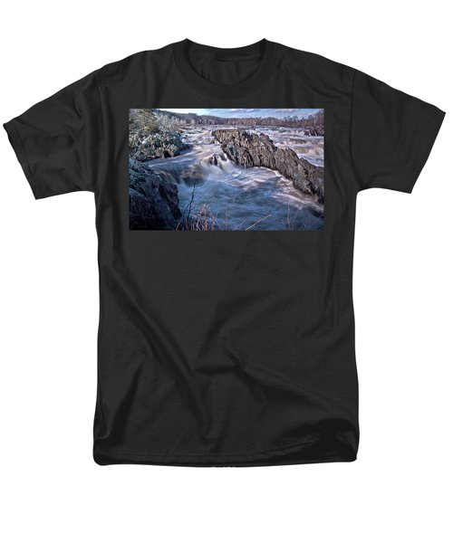 Men's T-Shirt  (Regular Fit) featuring the photograph Great Falls Virginia by Suzanne Stout