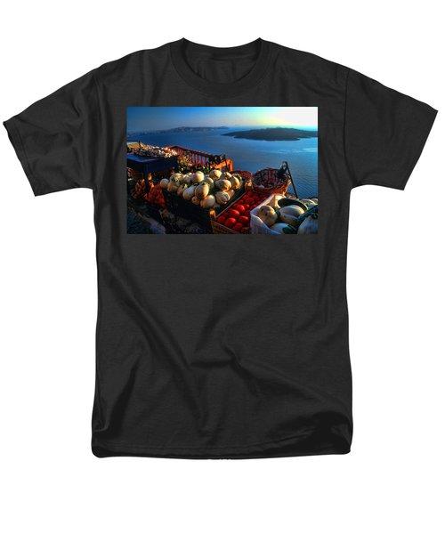 Greek Food At Santorini Men's T-Shirt  (Regular Fit) by David Smith