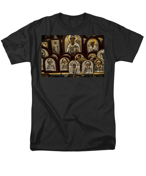 Greek Orthodox Church Icons Men's T-Shirt  (Regular Fit) by David Smith