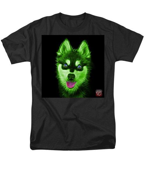 Green Alaskan Klee Kai - 6029 -bb Men's T-Shirt  (Regular Fit) by James Ahn