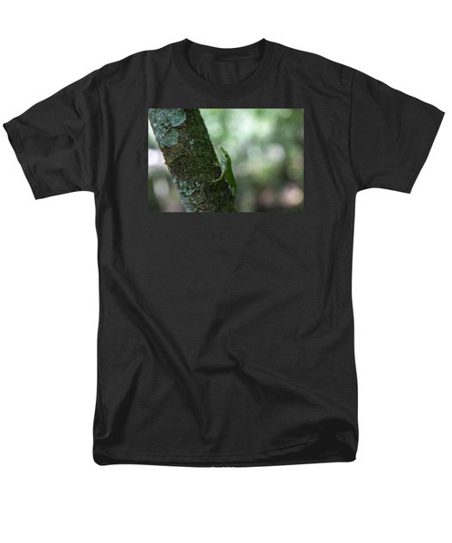 Green Anole Men's T-Shirt  (Regular Fit) by Christopher L Thomley
