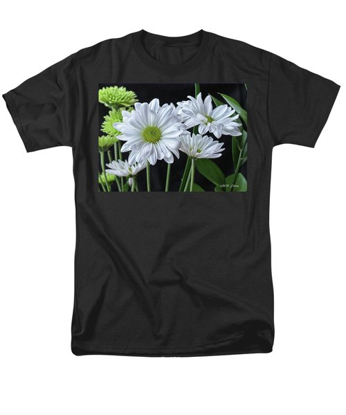 Men's T-Shirt  (Regular Fit) featuring the photograph Green Eyed Daisy by Bonnie Willis