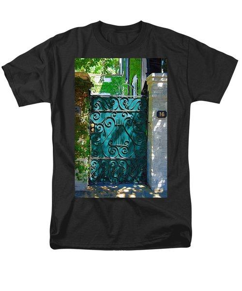 Green Gate Men's T-Shirt  (Regular Fit) by Donna Bentley