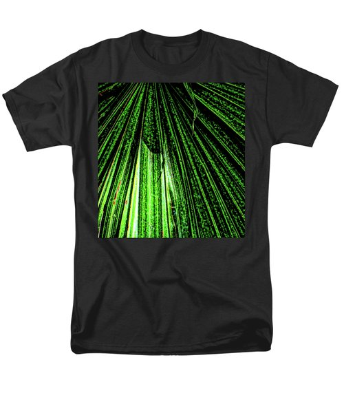 Green Leaf Forest Photo Men's T-Shirt  (Regular Fit) by Gina O'Brien