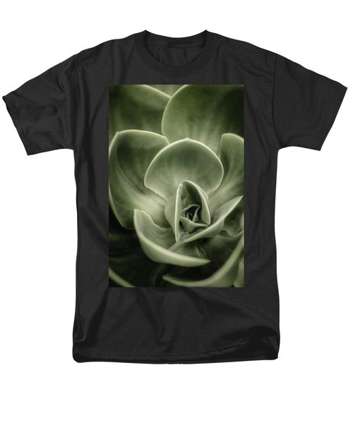 Men's T-Shirt  (Regular Fit) featuring the photograph Green Leaves Abstract IIi by Marco Oliveira