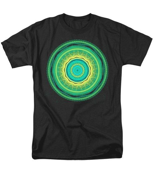 Green Mandala Men's T-Shirt  (Regular Fit) by Martin Capek