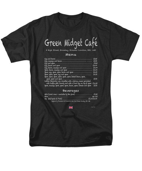Green Midget Cafe Menu T-shirt Men's T-Shirt  (Regular Fit) by Robert J Sadler