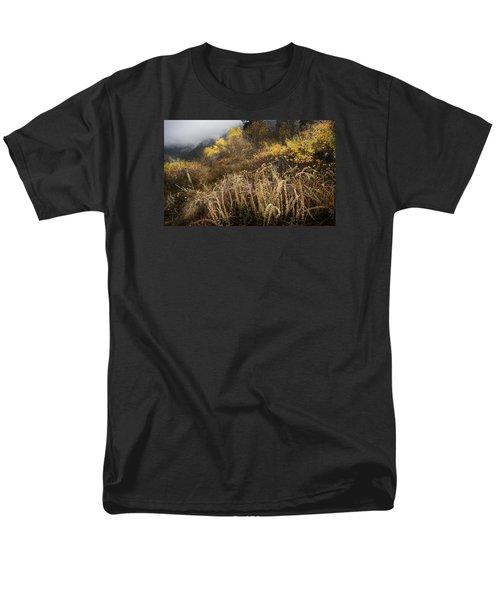 Green Mountain Dawn Men's T-Shirt  (Regular Fit) by John Poon