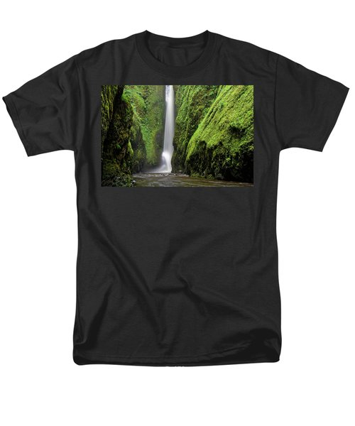 Green Slot Canyon Men's T-Shirt  (Regular Fit) by Jonathan Davison