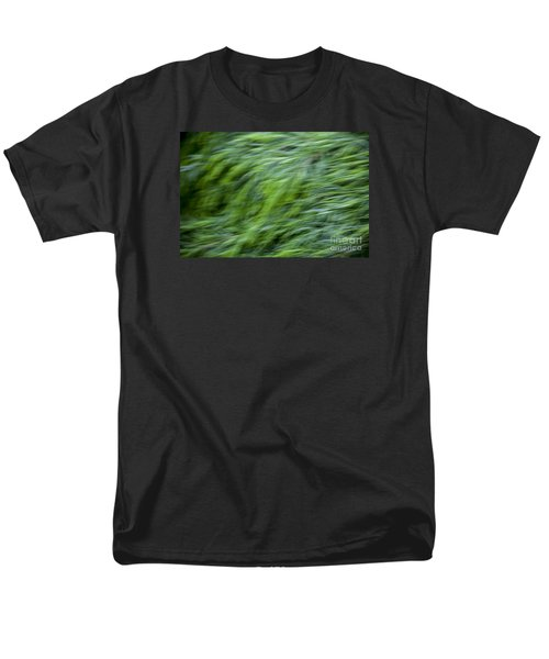 Men's T-Shirt  (Regular Fit) featuring the photograph Green Waterfall 2 by Serene Maisey
