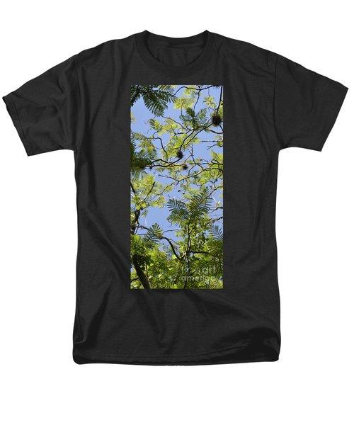 Greenery Left Panel Men's T-Shirt  (Regular Fit) by Renie Rutten