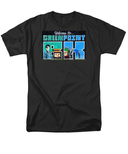 Men's T-Shirt  (Regular Fit) featuring the photograph Greenpoint Brooklyn Wall Graffiti by Nina Bradica