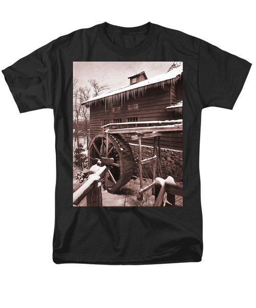 Grist Mill At Siver Dollar City Men's T-Shirt  (Regular Fit) by Garry McMichael