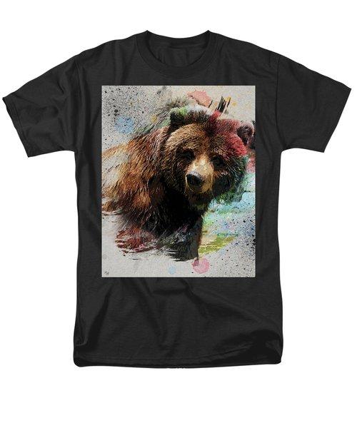 Grizzly Bear Art Men's T-Shirt  (Regular Fit) by Ron Grafe