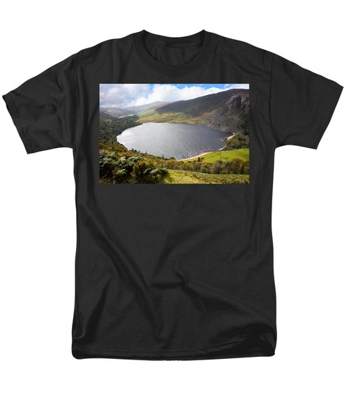 Guinness Lake In Wicklow Mountains  Ireland Men's T-Shirt  (Regular Fit) by Semmick Photo