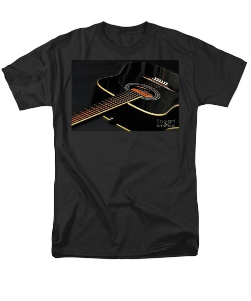 Men's T-Shirt  (Regular Fit) featuring the photograph Guitar Low Key By Kaye Menner by Kaye Menner