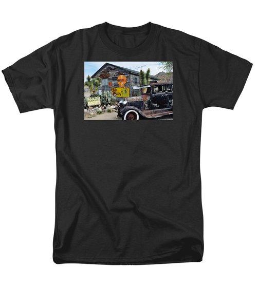 Hackberry Route 66 Auto Men's T-Shirt  (Regular Fit) by Kyle Hanson