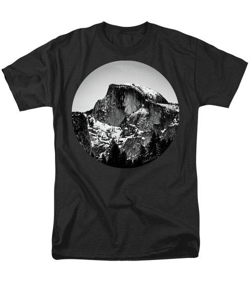 Half Dome Aglow, Black And White Men's T-Shirt  (Regular Fit) by Adam Morsa