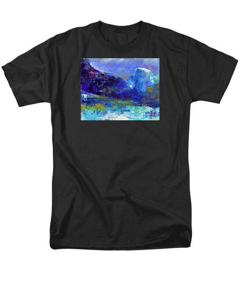 Half Dome Winter Men's T-Shirt  (Regular Fit) by Walter Fahmy