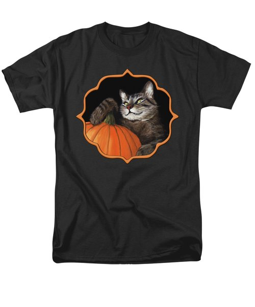 Halloween Cat Men's T-Shirt  (Regular Fit)