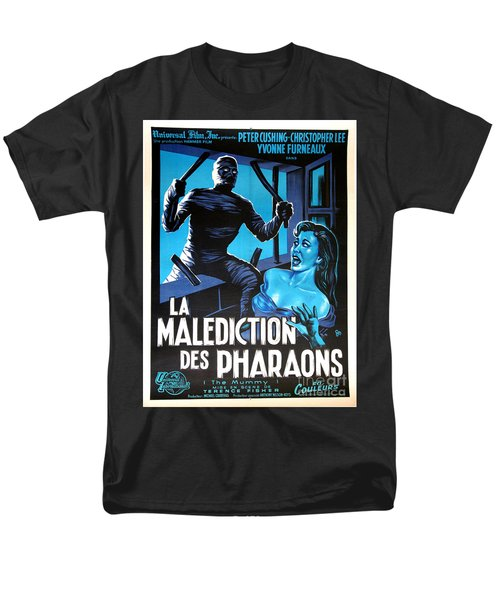 Hammer Movie Poster The Mummy La Malediction Des Pharaons Men's T-Shirt  (Regular Fit)