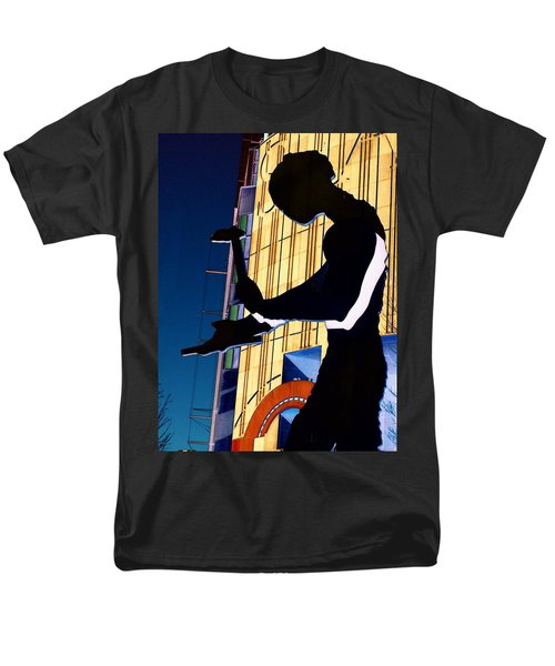 Men's T-Shirt  (Regular Fit) featuring the digital art Hammering Man by Tim Allen