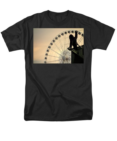 Men's T-Shirt  (Regular Fit) featuring the photograph Hanging On The Wheel by Valentino Visentini