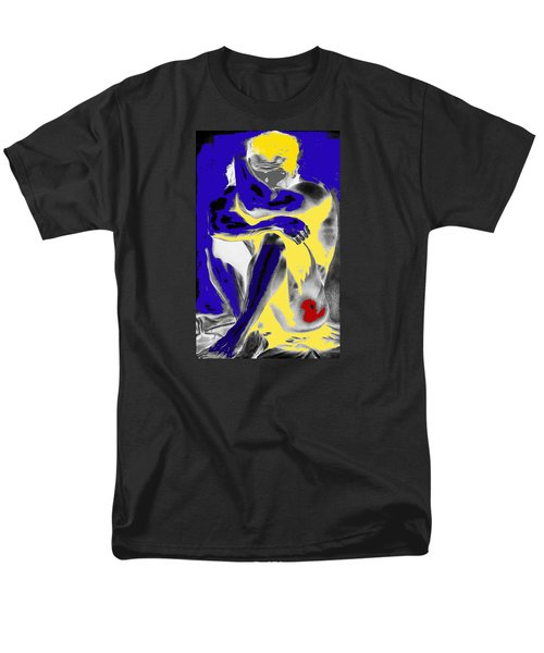 Original Contemporary Painting A Handsome Nude Man Men's T-Shirt  (Regular Fit) by RjFxx at beautifullart com